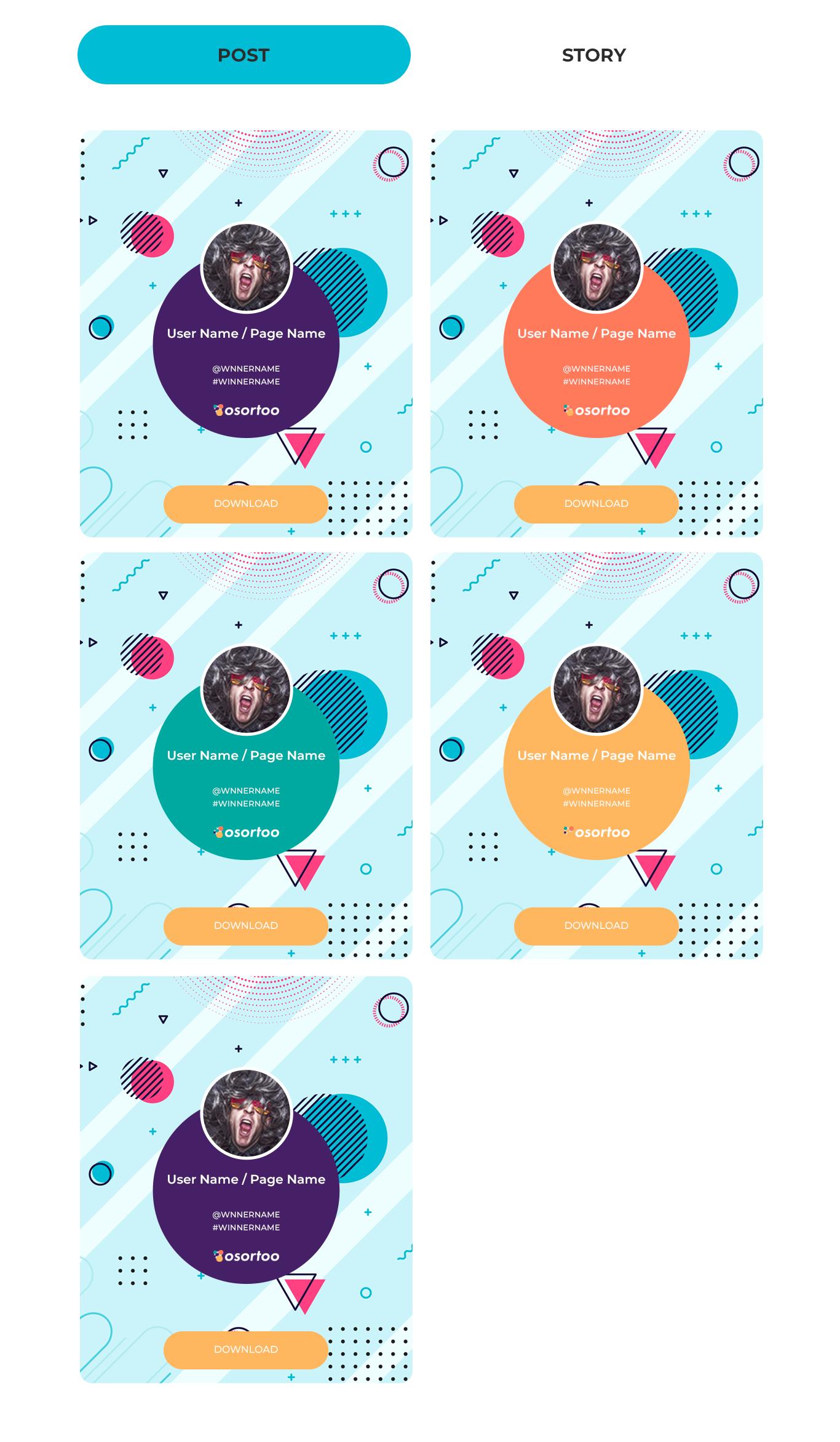 Osortoo Winner & Story Cards