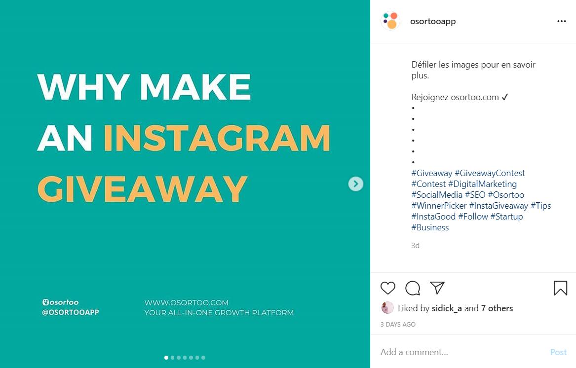 Instagramgiveaway