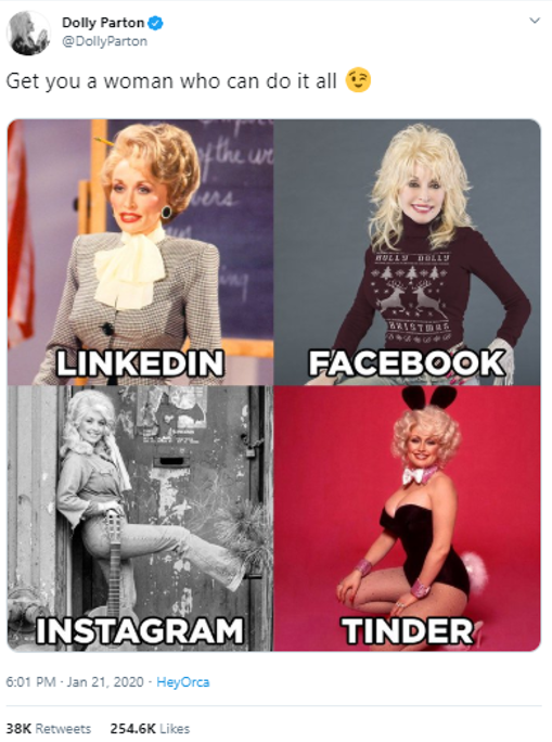Dolly Parton original Instagram post
