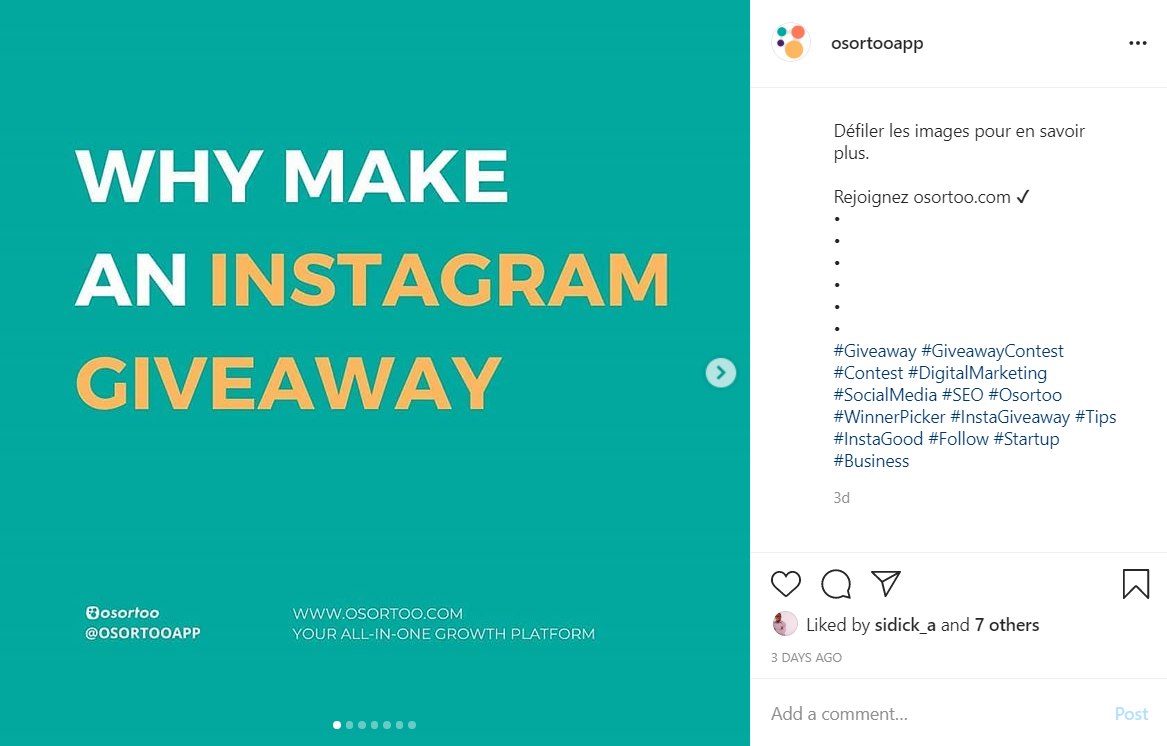 Hashtag strategy used on Instagram